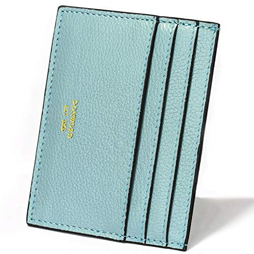 DONWORD RFID Slim Leather Card Case Wallet Minimalist Credit Card Holder Money Clip ()
