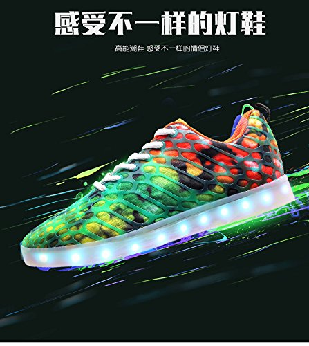 And Traspirante Mesh Arancione Moda Outdoor Sportive Tecniche Skateboard 7 Shoes Led Colori For Scarpe Men Light Women Lovers Cool Uomo Flash Casual Da xxTBapPwqZ