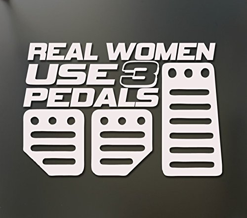 1-Set Profound Unique Real Women Use 3 Pedals Funny Vinyl Stickers Decor Mac Apple Laptop Window Wall Sticker Macbook Home Room Art Luggage Patches Hoverboard Graphics Family Decal Color (Flame Pedal Set)