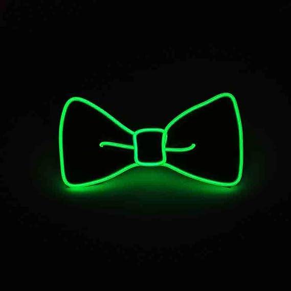 Pajarita con luces led controlable, para festivales y fiestas.