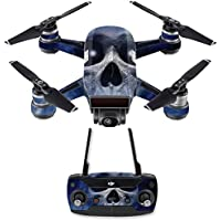 Skin for DJI Spark Mini Drone Combo - Haunted Skull| MightySkins Protective, Durable, and Unique Vinyl Decal wrap cover | Easy To Apply, Remove, and Change Styles | Made in the USA