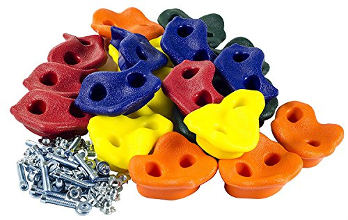 20 Extra Large Deluxe Rock Climbing Holds - with Mounting Hardware for up to 2