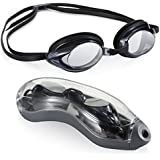AEGEND Racing Swimming Goggles No Leaking Anti Fog UV Protection Triathlon Swim Goggles with Interchangeable Nose Pieces Free Protection Case for Adult Men Women Youth Kids Child