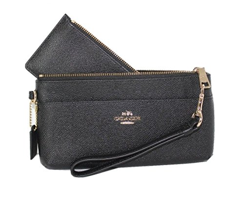 Coach Embossed Textured Leather Wristlet Wallet with Pop ...