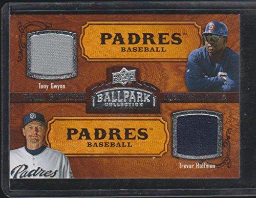 2008 UD Ballpark Tony Gwynn/Trevor Hoffman Padres Dual Game Used Jersey Baseball Card #162 (Baseball Trevor Hoffman)