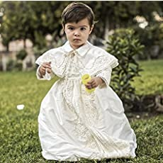 Vintage baptismal gown for boys Model B008 | Detachable skirt and Cape | HandMade.