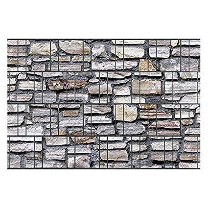 Breisgau • Sichtschutz Doppelstabmatten Zaun Windschutz Steinmotiv Motivdruck