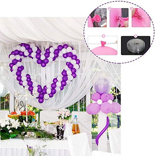 DREAMVAN Balloon Arch Garland Decorating Strip DIY Balloon Tape Tying Tool Balloons