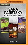 img - for Sara Paretsky V. I. Warshawski Series: Books 5-7: Blood Shot, Burn Marks, Guardian Angel book / textbook / text book