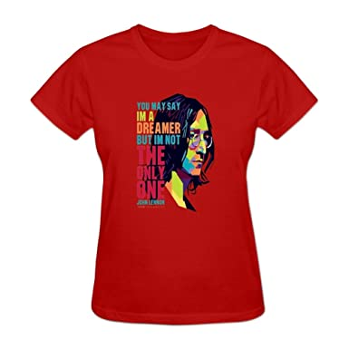 boning womens printing john lennon imagine create t shirts design m red