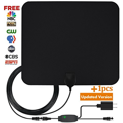Digital antenna, TV antenna for digital TV indoor, 50+ miles range with Detachable Signal Amplifier Booster for 1080P High Reception, Aluminum foil antenna, Updated Version Better Reception of Signal (Digital Reception Booster)