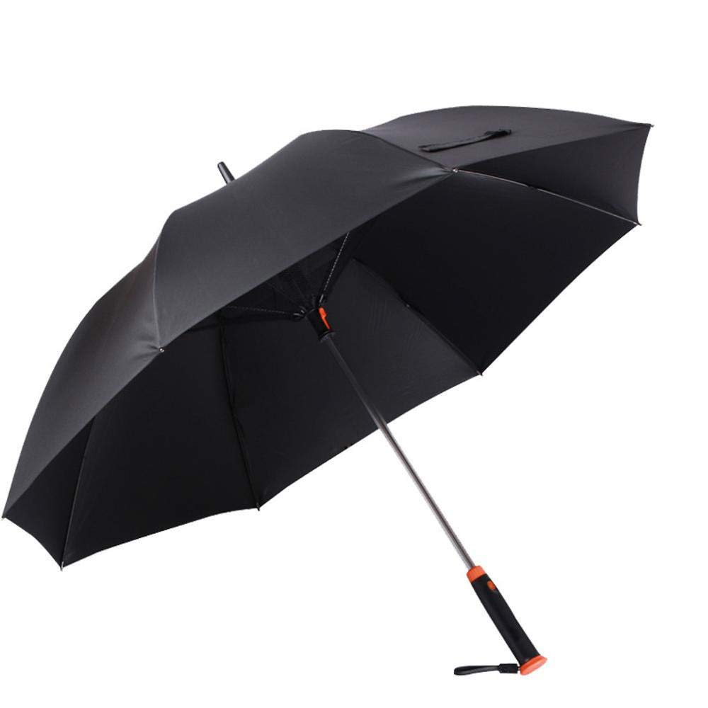 TtKj Folding Umbrella Sunscreen Straight bar Clear Umbrella Creative Men's Black Plastic Sun Umbrella