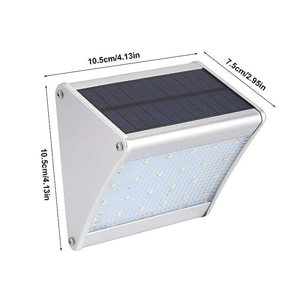 Solar Outdoor muro de seguridad luces, preferled 24 LED Aleacion de aluminio impermeable radar sensor de movimiento inalámbrico luces de noche para jardin, ...