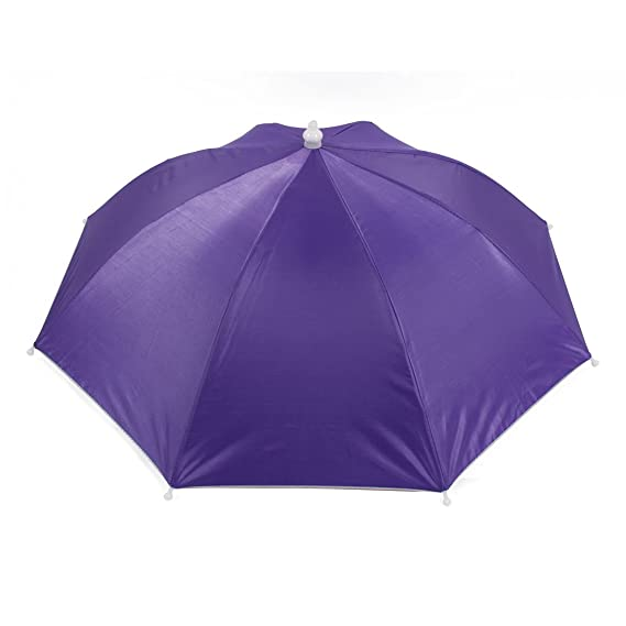Image Unavailable. Image not available for. Color  uxcell Fishing Camping Hands  Free Purple Umbrella Hat Cap ab0f093d9bc6