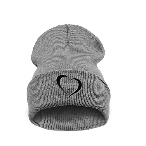 Black Heart Universal Nero Black Beanie 4sold Grey Talla Men EwfS7