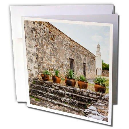 3dRose Danita Delimont - Churches - Mission San Juan Capistrano, Texas - 6 Greeting Cards with envelopes (gc_260121_1)