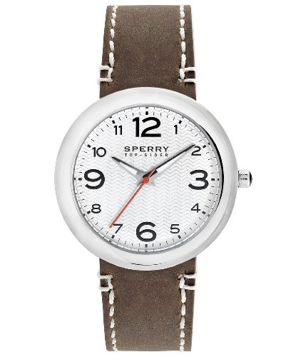Sperry Top-Sider Men's 10008967 Sandbar Stainless Steel Watch with Brown Leather Band