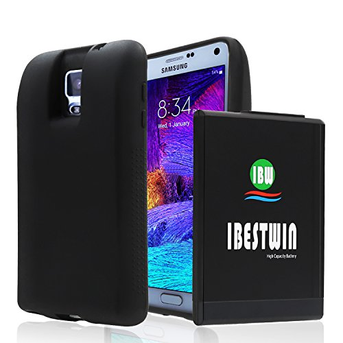 IBESTWIN Samsung Galaxy Note 4 10000mah Extended Battery+Black TPU Protection Case+NFC[NFC/Google Wallet Compatible] Fit All Version of Galaxy Note 4