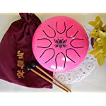 WuYou-8in-UFO-Pink-Steel-tongue-drum-Lotus-symble-drum-Handpan-FREE-Mallets-and-Bag
