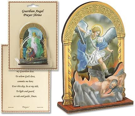 1 1//4 Inch Religious St Michael Archangel Pocket Medal with Prayer Back