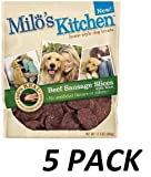Cheap (5 Pack) Milo's Kitchen Dog Treats, Beef Sausage Slices with Rice, 12.5-Ounce Package