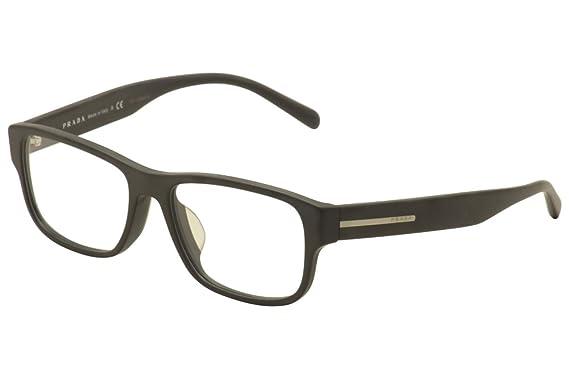 Amazon.com: Prada Eyeglasses VPR 23RF 23R-F TKM-1O1 Grey/Silver ...