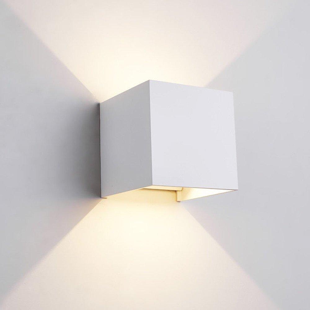 (2 Pack) LED Waterproof Wall Lamp, BOLXZHU 7W Wall Sconces Adjustable Wall Mounted Lamp, Warm White 3200K, Aluminum Indoor Outdoor Garden Corridor Lights