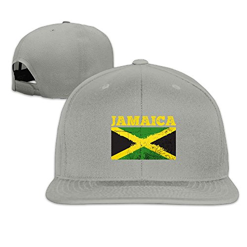 - Thirdoone Unisex Jamaica Flag Flat Bill Baseball Cap Outdoor Snapbacks Hat