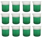 500mL Plastic Beaker; 10ml Graduations; Premium Polypropylene, Pack of 12