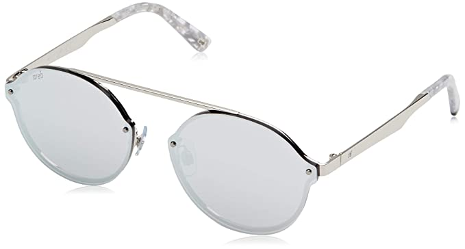 Web Unisex adulto WE0181 Gafas de sol, Gris (Shiny Rhodium ...