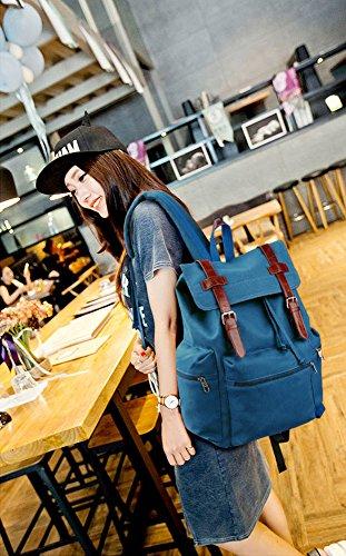 ANNA GRACE - Bolso mochila  de piel sintética para mujer Design 1- Blue