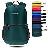 ZOMAKE Ultra Lightweight Packable Backpack Water Resistant Hiking Daypack,Small Backpack Handy Foldable Camping Outdoor Backpack Little Bag (Army Green)