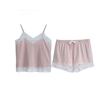 Pijama GAODUZI Summer Sexy Harness Cómodo Ladies Two-Piece Pajamas Home Service Suit Ropa Interior