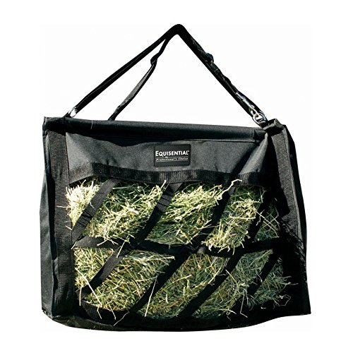 Equisential by Professionals Choice 21X21X11 Equine Top Load Hay Bag (Black)