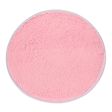 Lingery 1PC 40cm Small Round Soft Shaggy Non Slip Absorbent Bath Mat Memory Foam Bathroom Shower Rugs Carpet Bath Mat Bath Rugs Mats Non-slip Mat Soft Bathmat for Baby Kids Safety (Gray And Pink Round Rug)