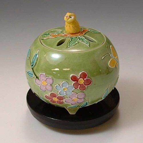 京焼 清水焼 香炉(黒台付) 黄ふくろう きふくろう YSK082 B00C1WW9ZE