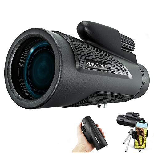 Monocular Telescope, 12×50 High Power HD Monocular with Smart Phone Holder and Tripod Waterproof HD FMC Bak4 Prism for Youth Bird Watching Match Hunting Camping Outdoor Sporting
