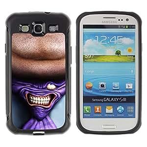 LASTONE PHONE CASE / Suave Silicona Caso Carcasa de Caucho Funda para Samsung Galaxy S3 I9300 / Tie Man Neck Suit Tie Art Drawing Portrait