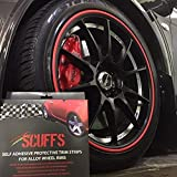 RimBlades Scuff3 Scuffs Self Adhesive Protective Trim Strips for Alloy Wheels - Black by RIMBLADES