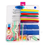1 Set 16 sizes Crochet hooks Needles Stitches knitting Craft Case crochet set in Case Yarn Hook DIY Crafts home supplies