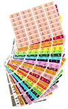TAB Datafile Color-Coded Alphabetic Label Rolls, Complete Set A-Z, Half-size, 26 - 256 Label Sets/Pack