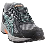 ASICS Women's, Gel Venture 6 Trail Sneakers Black Green 8 B