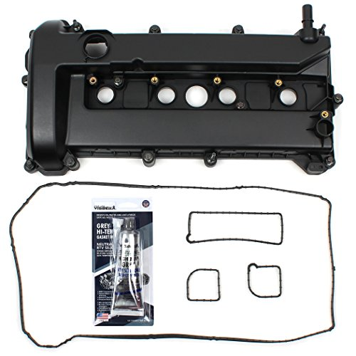 (Brand New Engine Valve Cover and Valve Cover Gasket Set with Spark Plug Tube Seal For 2005-13 Ford 2.0L 2.3L Mercury)