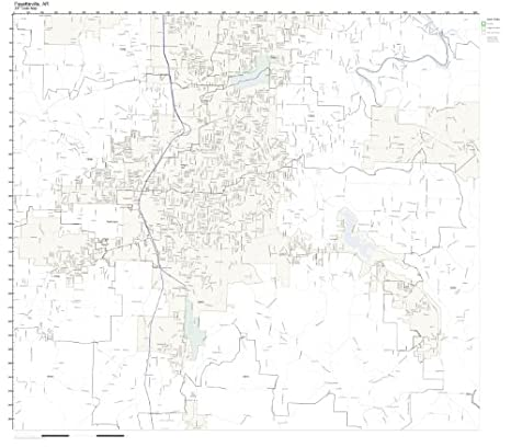 Fayetteville Arkansas Zip Code Map.Amazon Com Zip Code Wall Map Of Fayetteville Ar Zip Code Map Not