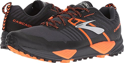 Brooks Men's Cascadia 13 Grey/Black/Orange 10 D US