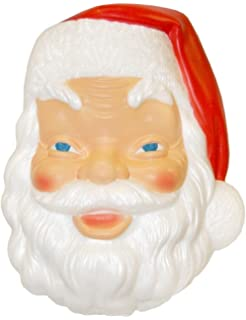 new 17 christmas plastic blow mold santa claus face lighted decoration c3410