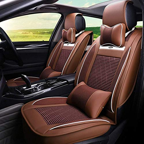 HYLH Car Seat Covers Set Leather, Universal 5 Seats Seat Cushions for the front seats and rear seat Seats Seat cover with cushions (Color : Brown): Kitchen & Home