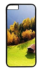 MOKSHOP Adorable Landscapes 17 Hard Case Protective Shell Cell Phone Cover For Apple Iphone 6 Plus (5.5 Inch) - PC Black