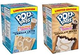 Dunkin Donuts Pop Tarts Vanilla Latte and Chocolate Mocha (pack of 2) Limited Edition