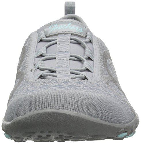 Femme grey fortune Baskets Breathe Skechers Easy Knit Gris w10nqXxpEv